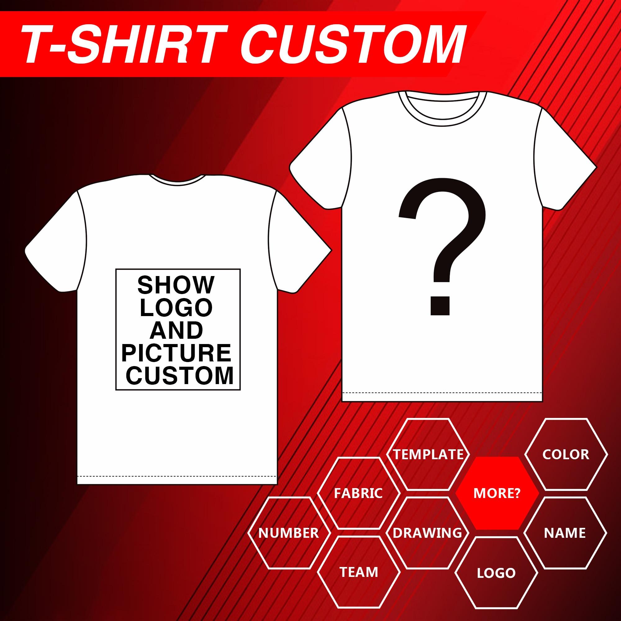 Customized Print T Shirt Women's Girl's DIY Photo Logo Brand Cotton/Polyester shirt Men's Boys clothes Casual Kids Baby's Tshirt