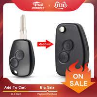 Dandkey 2 Tasten Remote Key Fall Cover Geändert Fild Für Renault Megan Modus Clio modus Kangoo Logan Sandero Duster