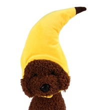Pet Cute Holiday Party Hat Creative Turned Funny Cat Teddy Headwear Banana Headgear Accessories