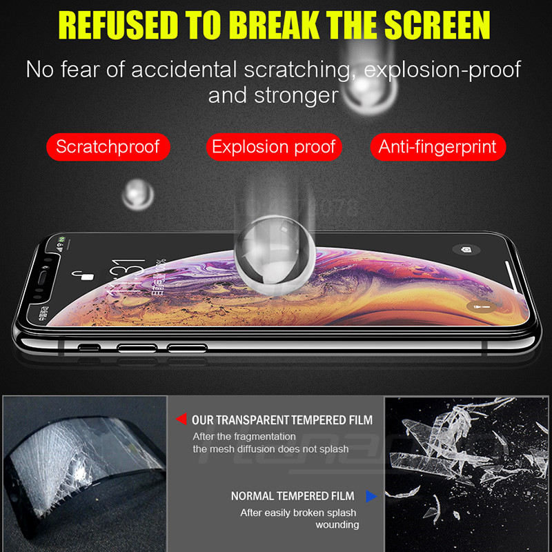 Image 5 - Flanagan 3Pcs HD Tempered Glass For iPhone X XR XS MAX Screen Protector Film For iPhone 11 Pro Max XR 11 Pro Protection Glass-in Phone Screen Protectors from Cellphones & Telecommunications