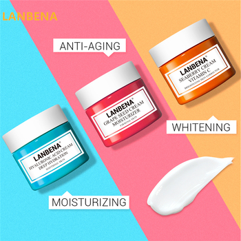 LANBENA Hyaluronic Acid Face Cream Vitamin C Serum Whitening Cream Moisturizing Anti Wrinkle Anti Aging Acne Treatment Skin Care anti wrinkle anti aging moisturizing serum acne treatment whitening face ageless beauty skin care argan collagen elastin serum