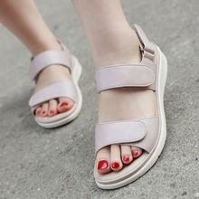 2020 Летние женские туфли сандалии; Пляжные на танкетке сандалии