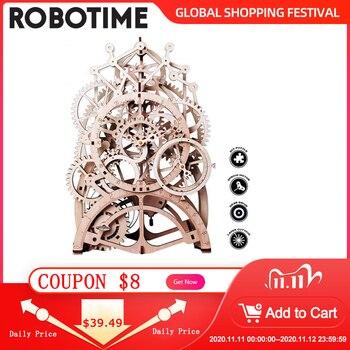 Robotime DIY Laser Cutting 3D Mechanical Model Wooden Model Building Kits Assembly Toy Gift for Children Boys