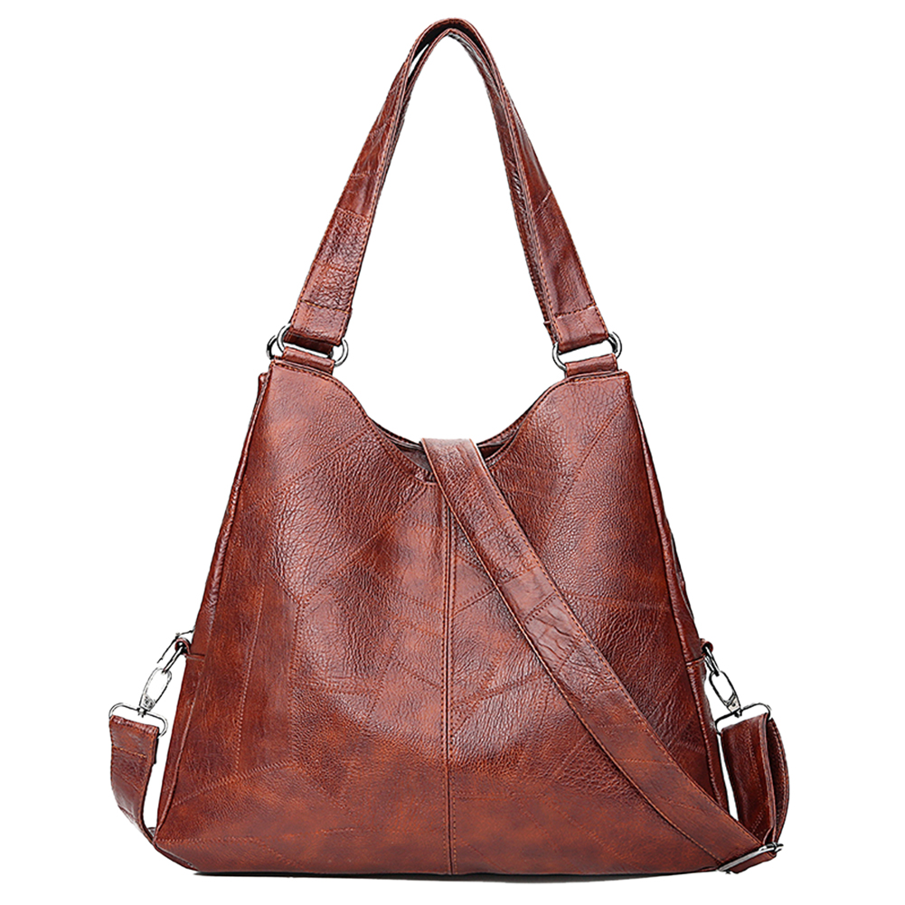 Fashion Women Handbags High Quality Female Hobos Single Shoulder Bags Leather Pure Color Messenger Bag Large Totes Dropshipping
