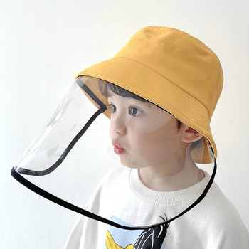 Windproof Sun Hat Face Shield Cover Hat Anti Spitting Saliva Dust proof Fisherman Cap With Detachable Clear Facial Mask