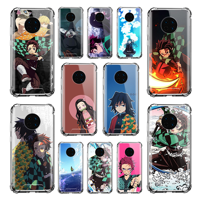 Yaiba Demon Slayer <font><b>Case</b></font> for <font><b>Huawei</b></font> Y9 Y9s <font><b>Y7</b></font> Y6 Y5 <font><b>2019</b></font> Mate 30 Pro 20 10 Lite Airbag Anti Fall TPU Phone <font><b>Covers</b></font> image