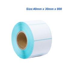 4030(40*30*800) термальная бумага стикер тепловой этикетки бумажный стикер со штрихкодом бумаги для наклейки принтера