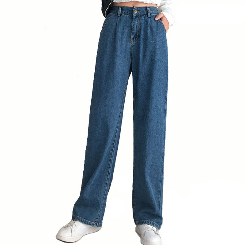 Women High Waist Jeans Boyfriend Casual Plus Szie 5XL Denim Trousers  Vintage Full Length Straight Pants Female