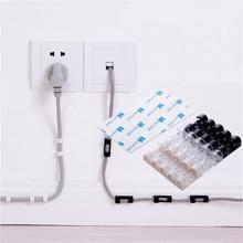 Nowy 20 sztuk worek kabel spadek klip biurko organizator Tidy przenośny przewód przewód uchwyt na przewód do ładowarki USB Organizer bezpieczne tabeli tanie tanio Z tworzywa sztucznego