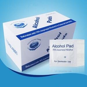 Image 5 - 100Pcs Alcohol Pad Nat Vegen Wegwerp Desinfectie Wattenstaafje Pad Antiseptische Huid Reinigen Zorg Outdoor Survival Apparatuur