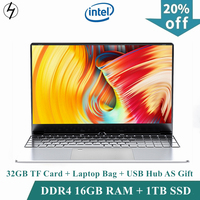 LHMZNIY ноутбук 15,6 дюймов Windows 10 ноутбук 16 Гб DDR4 ram 1T SSD HD экран intel 1,8 ГГц камера студенческий офис игра игровой ноутбук нетбук