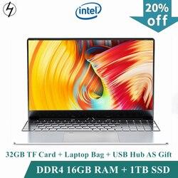 Lhmzniy Laptop 15.6 Inch Windows10 Notebook 16 Gb DDR4 Ram 1T Ssd Hd Scherm Intel 1.8 Ghz Camera Student laptop Kantoor Mc Lol Game