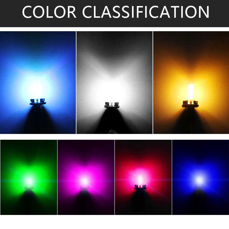 1 Pcs T10 W5W LED Mobil Interior Lampu COB Silikon Case Mobil Sinyal Lampu 12V 194 501 Side Wedge parkir Bulb Marking Lampu