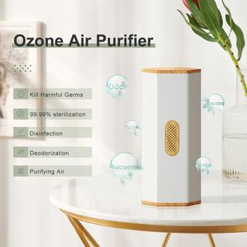 GXDiffuser Battery Air Purifier Ozone Generator Disinfect Deodorize Formaldehyde Air sterilizer Rechargeable Air Cleaner for Car gx diffuser portable ozone generator usb rechargeable battery ozone air purifier mini odor sterilizer air ozonator for car home