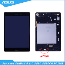 8 inch LCD For Asus ZenPad S 8.0 Z580 Z580CA 27MM P01MA LCD Display Touch Screen Digitizer Assesmbly With Frame For Z580 LCD