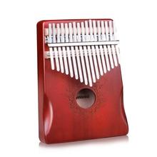 17 Keys Black Stylish Kalimba Thumb Piano Mahogany Body Musical Instrument