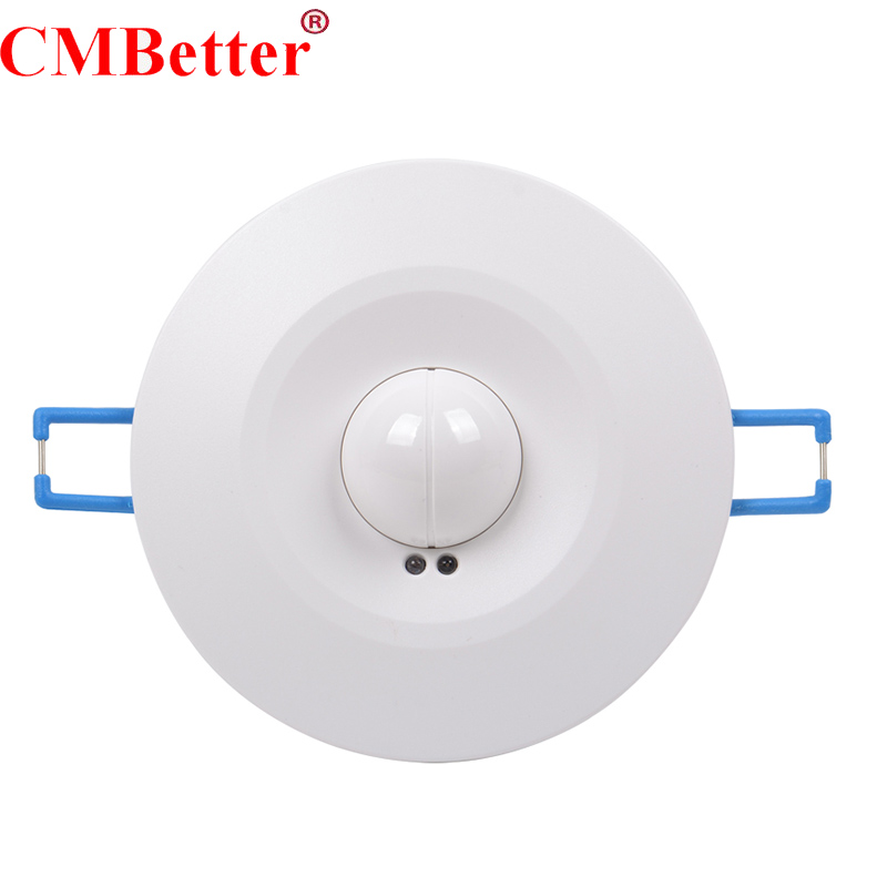 High Quality 360degree 600w/1200w Microwave Smart Motion Sensor AC220 240V Light Radar Switch Ceiling Recessed Wall CM090-in Switches from Lights & Lighting