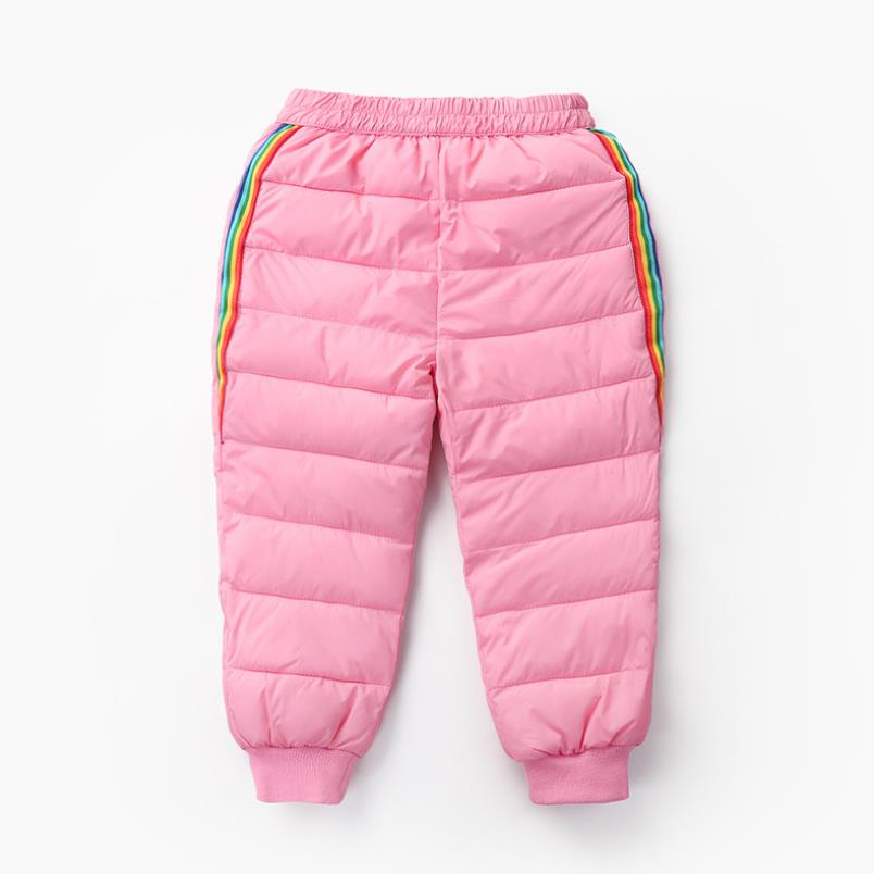2020 New Boys and girls down cotton trousers 2-6 years old thick warm pants, baby winter trousers children's thick Sweatpants 4