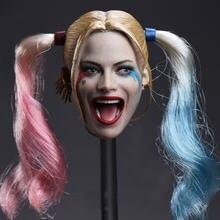 Масштаб 1:6 искусственная женская модель Джокера голова лица
