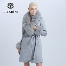 Female Coat Cashmere Collar Wool Long New-Style Winter Women Ladies Thick Fur Big Detachable
