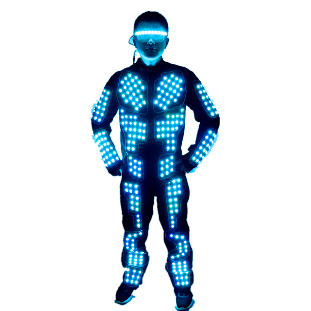 New arrived LED Robot Suits Luminous Jacket Laser Suit Fashion coat For EDM music festival costumes image
