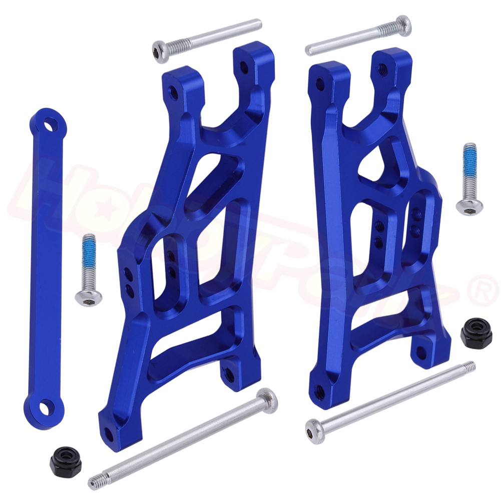 Aluminum Front Suspension Arms and Tie Bar 3631 for Traxxas Slash 2WD 1/10 Short Course Upgrade Parts Stampede 2WD Rustler VXL(China)