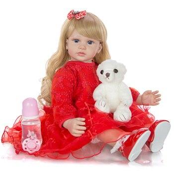 24 Inch Reborn Baby Girl Doll Elegant 60CM Soft Handmade Princess Doll Lifelike Boneca Reborn Kids Best Playmate Christmas Gift warkings reborn
