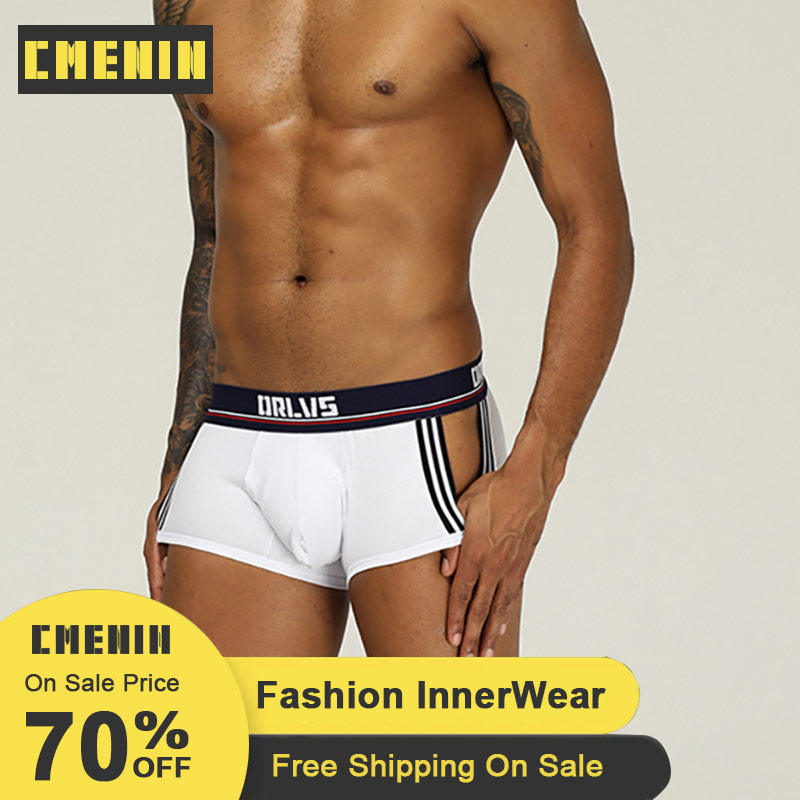 Sexy Mesh Men Boxer 2020 New Cotton Solid Soft Boxer Men Underware Boxers Innerwear Sexy Mens Underwear Boxershorts Sexi