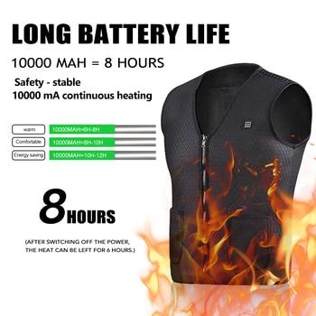 Heating Vest Winter Warm Jacket Heated Vest USB Charging Heating Vest Intelligent Electric Heating Vest Heating Clothes 1