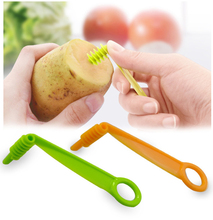 1PC Spiral Slicer Potato Cutting Manual Spiral Knife Fruit Vegetables Cutter Kitchen Accessories Tools Random Color
