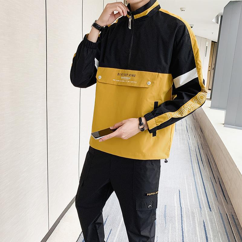 Wu Jian Dao 2019 Autumn MEN'S Casual Suit Korean-style Trend Handsome Teenager Hooded Jacket Two-Piece Set Fashion