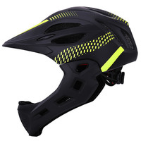 LED Kids Full Face Mountain Bike Helmet Balance Sports Safety Kids Full Covered Helmets Downhill Scooter|Bicycle Helmet|   -
