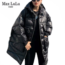 Jackets Max-Lulu Coats Hooded-Padded Vintage Korean Fashion-Style Plus-Size Winter Womens
