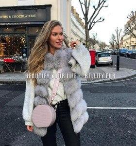 Image 2 - Vintage الساخن بيع النساء الفراء الحقيقي سترة مخصصة حجم كبير الفراء الحقيقي جيليتس جاكيتات الطبيعية الثعلب الفراء معطف