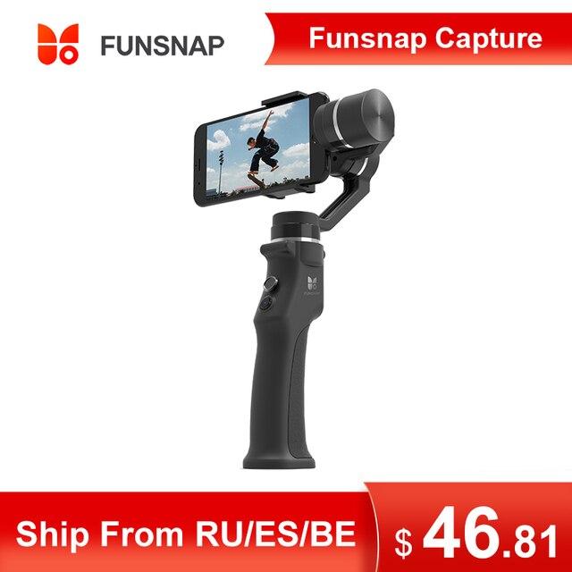 Funsnap 3軸スタビライザー3コンボハンドヘルドスマートフォンiphone用移動プロ7 6 5 sjcam eken李アクションカメラズーム