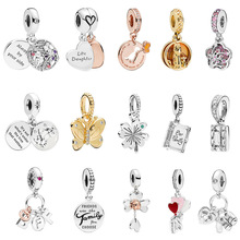 100% 925 Sterling Silver Family Bookmy Little Baby Pendant Charm Fit Pandoras Bracelet Bead Jewelry