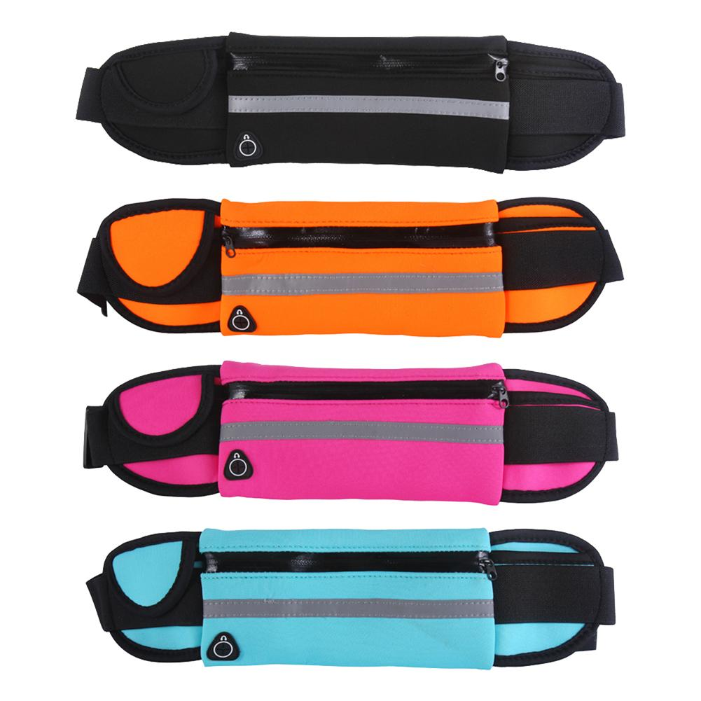 Durable Running Bags Classic Delicate Texture Sports Belt Waist Bag Waterproof Neoprene Gym Fitness Fanny Pack For Men Women