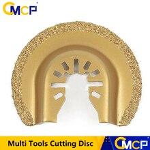 64mm Half Circle Diamond Quick Release Oscillating Saw Blade Renovator House DIY Multi Tools Cutting Disc