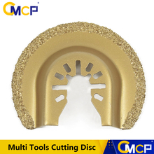 Disque de coupe pour rénover, maison, demi cercle, diamant à libération rapide, lame oscillante, disque de coupe pour bricolage de 64mm