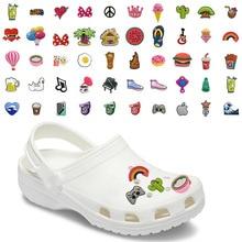 Mix100PC PVC קרוק נעל קסמי קישוטי אביזרי מזונות קפה באר קקטוס קולה קשת Jibz עבור קרוק נעלי ילדים X mas מתנות