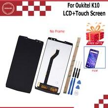 Ocolor ل Oukitel K10 شاشة الكريستال السائل و شاشة تعمل باللمس 6.0 بوصة ملحقات الهاتف المحمول ل Oukitel K10 مع أدوات + فيلم
