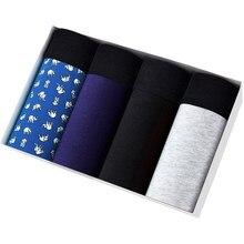 4 pçs conjunto calcinha masculina para o homem deslizamento sexy homme boxer shorts calson masculino cuecas boxershorts algodão de alta qualidade