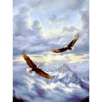 Wall art birds oil paintings animal landscapes modern painting Spirits Of The Wind Handmade home decor