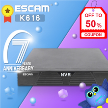 ESCAM K616 NVR HD 1080P 16CH Network Video Recorder H.264 HDMI/VGA Video Output Support Onvif P2P Cloud service dhl free shipping in stock ds 7616ni e2 english version 16ch nvr with 2sata non poe hdmi vga output embeded nvr 16ch h 264