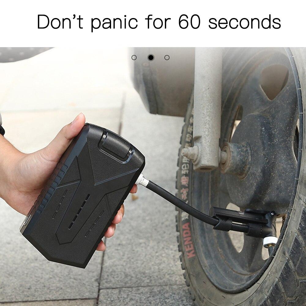 Electric Air Pump Portable Mini Tires Inflator Compresor Bike Bicycle Cycling Motorcycle With Tre Pressure Display Pump Inflator