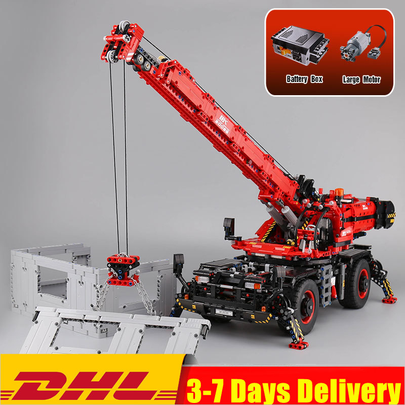 IN Stock 2019 20085 <font><b>Technic</b></font> Rough Terrain Crane Fit <font><b>Legoinglys</b></font> <font><b>42082</b></font> Building Blocks Bricks Educational Diy Toys Birthday Gift image
