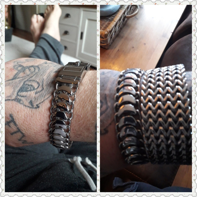 Браслет Будды 20 мм Мужской панцирный браслет серебряного цвета