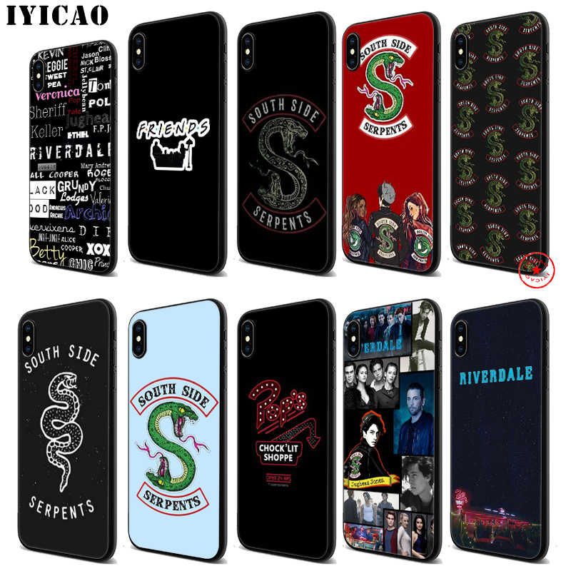 IYICAO Riverdale South Side Serpents Soft Black Silicone Case for iPhone 11 Pro Xr Xs Max X or 10 8 7 6 6S Plus 5 5S SE