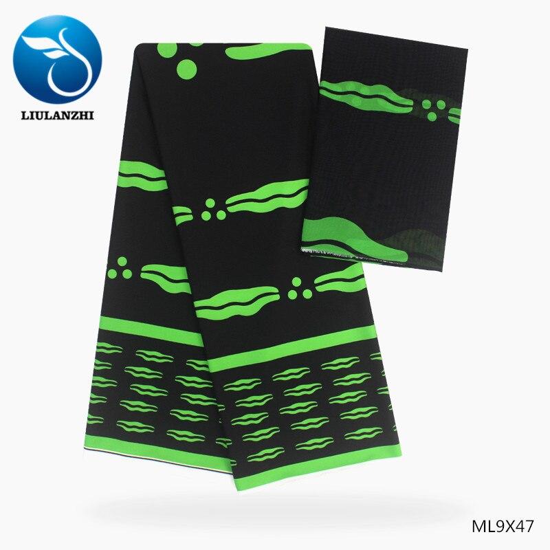 LIULANZHI imprime mousseline de soie tissus couture tissu pour robe blouse 2019 africain ankara doux mousseline de soie tissu ML9X43-48