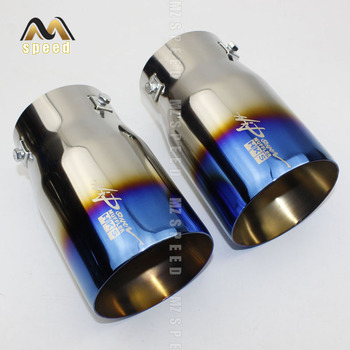 Universal Car Rear Round Exhaust Pipe Tail Muffler Tip Chrome Stainless Steel Automobile Muffler Tip Replacement For Auto Acce цена 2017